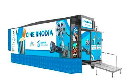 O projeto é em comemoração aos 100 anos do Cine Rhodia